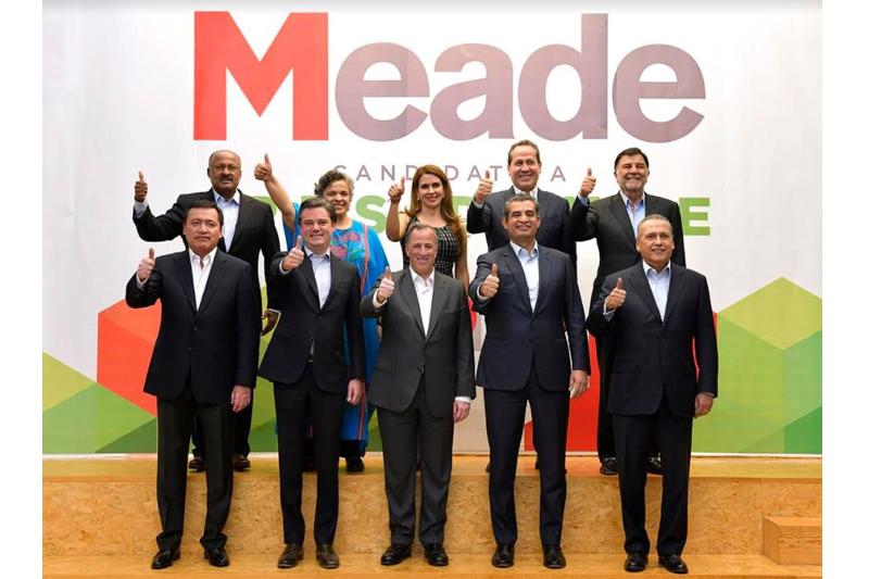 Chong, Paredes, Juárez y Beltrones llegan al equipo de Meade